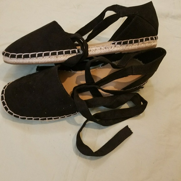 c76370a4ddb Black Brash espadrilles sandals